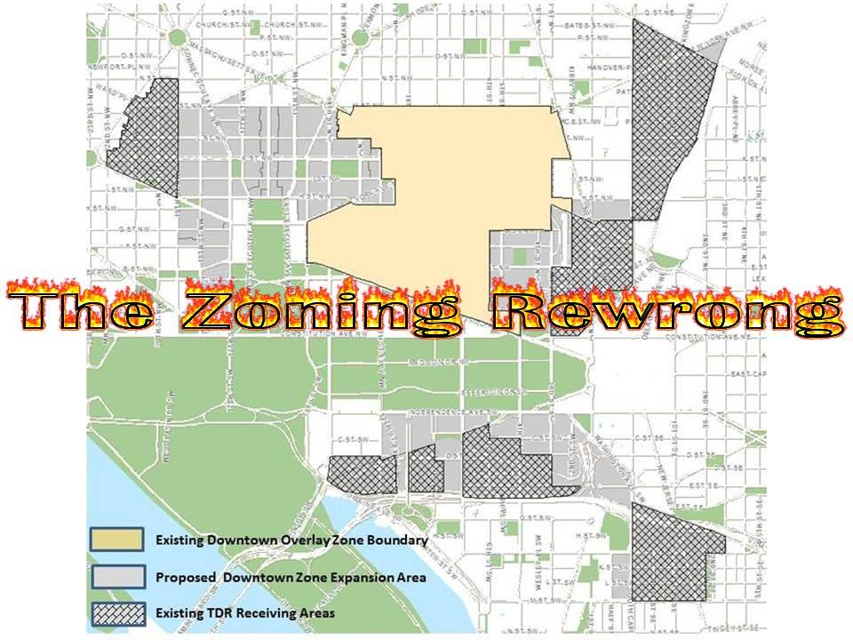 The DC Zoning Rewrite (ZRR) is WRONG! Dc Zoning Map on